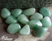 Green Aventurine (3 Med/Lrg Tumbled Stones) - Balance Heart Chakra - Prosperity, Creativity, Healing, Employment, Career & Business Success