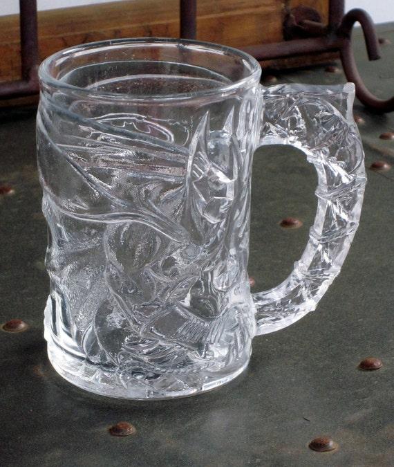FOR MELISSA Vintage Collectible Batman McDonald's Glass Mug