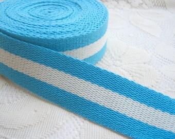 Cotton bag handle, Blue and White Cotton Webbing, Bag supply, tote bag handle, Bag strap Handle, woman, black tote handle