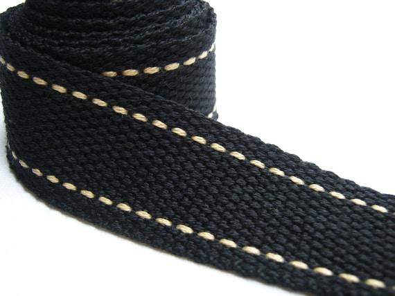 Reserved : Cotton bag handle, Black Cotton Webbing, Bag supply, tote bag handle, Bag strap Handle, woman, black tote handle