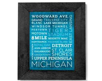 Michigan Poster - 11x14