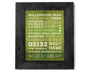 West Roxbury Poster - 11x14