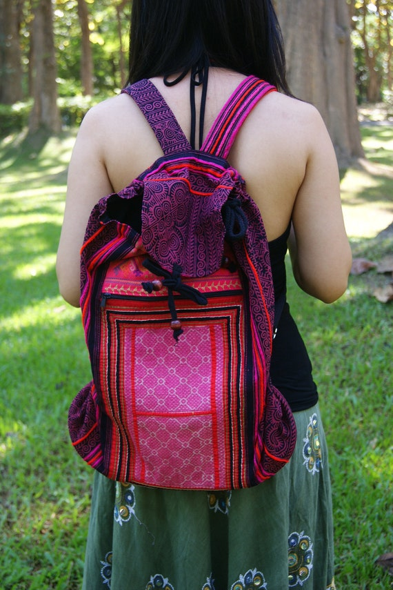 Stylish Vintage Hmong Backpack