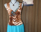 Upcycled Shabby Chic Tattered Dress Boho Gypsy Ranch Country Chic Dress Cowgirl Prairie Girl