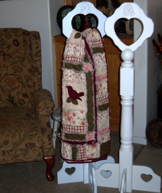 Items Similar To Quilt Display Stand, Quilt Rack, Shabby