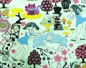 Kawaii Anime Fabric Brand New Alice In Wonderland, Greyberry 1 yd