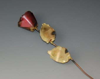 COPPER METAL ROSE,brass, rose bud, flower, handcrafted, flower,metal sculpture,metal art