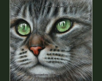Tabby Cat Print Definition by Irina Garmashova