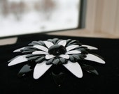 Black and White Vintage Brooch