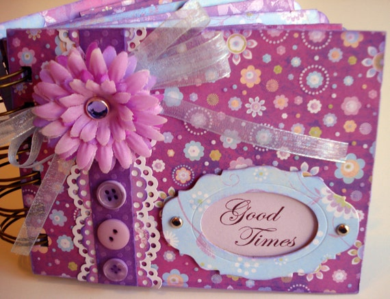 Photo Album Mini , Good Times, Purple -  - Great for spring or Easter photos