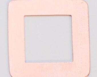 """SALE SALE SALE Pack of 6 Copper Square Washer 1-3/16"""" 24ga"""