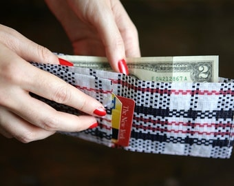 wallet PDF sewing pattern upcycled simple and functional printable for men unisex