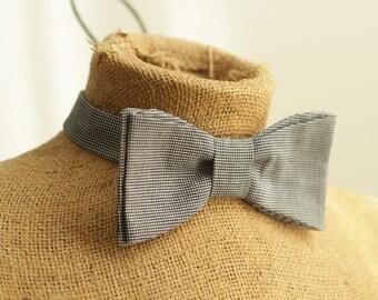 men's bowtie pattern PDF sewing DIY pattern plaid fashion formal wedding fathers day