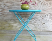 metal table / mesh patio table / wire folding table