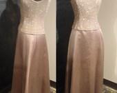Glitzy Gold Full Length Sparkle Dress