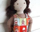 """Waldorf Inspired Style Soft Cloth Doll """"Annika"""" with Reversible Dress"""