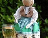 "Burlap Napkin Doll ""Heidi"""