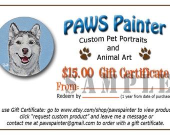 15-Dollar Gift Certificate