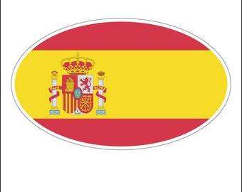 Oval sticker - Spanish flag