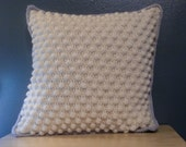 Crochet Pillow - Bobbles and Stripes