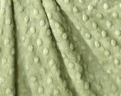 1 Yard Sage minky dimple dot