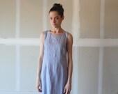 vintage 60s dress / lavender dress / sleeveless dress / linen dress