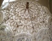 15% OFF  Gorgeous Vintage Ivory Lace Shade Umbrella