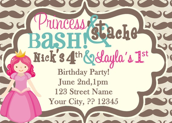Princess and 'Stache Party
