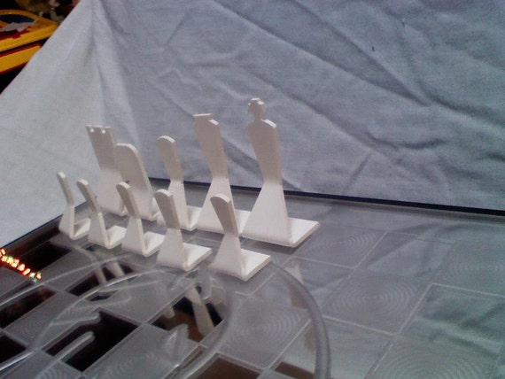 Traditional Chess set:  Heat Bent