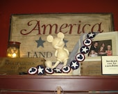 American Flag Americana Mickey Mouse inspired red white and blue garland fourth of july