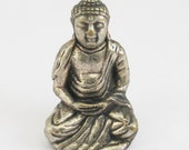 Classic Seated Buddha Statue Pendant with Hands in Gesture of Meditaion