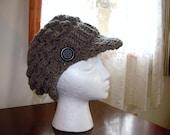 Womans newsboy hat  - Crochet