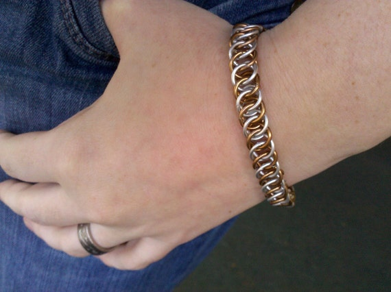 Chainmail Bracelet - Persian Silver and Brass