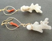 20% SALE - Coral Earrings Hawaii