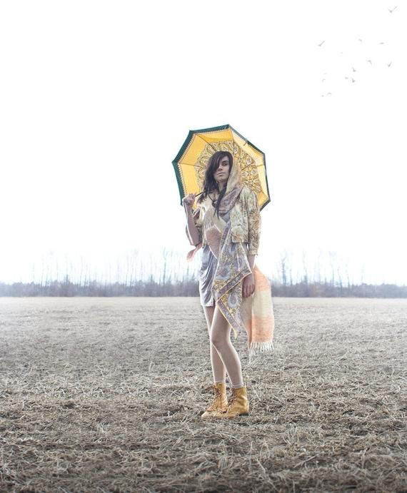 Paisley Printed Umbrella