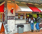 Nostaligic Food Stand Dining 12x18 Limited Edition Print