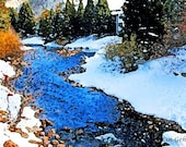 Scenic Vail Creek in Winter Snow 12x18 Limited Edition Print