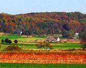 Scenic Pennsylvania Amish Autumn Landscape 12x18 Limited Edition Print