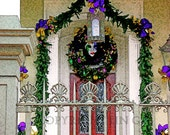 New Orleans Garden District Mardi Gras Door 11x14 Limited Edition Print