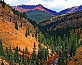 Scenic Colorado Mountains in Autumn 11x14 Limited Edition Print