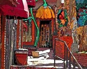 Colorful Southwestern Courtyard 12x18 Limited Edition Print