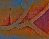 Abstract Fine Art Photography Graffiti Orange, Big Kay - 8x12