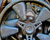 Abstract Fine Art Automotive Hubcap Still Life Photography - Hubbed - 8x12