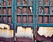 Abstract Fine Art Photography Industrial Still Life Color, Doorways - 8x12