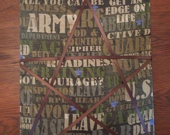 Memo Board - 11x14 Army Star