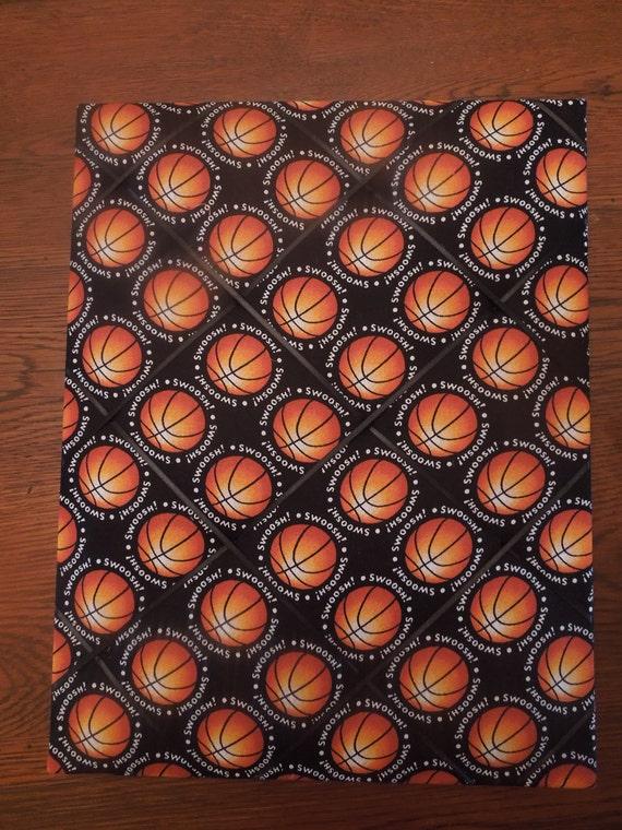Memo Board - 11x14 Basketball Swoosh Memory Board