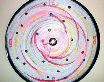 Tick Tock Vinyl Clock Painting