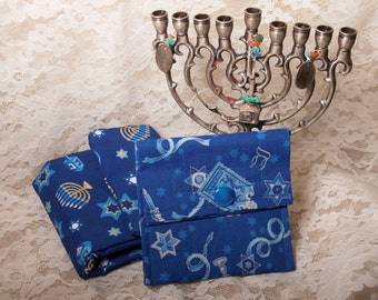 Hannukah Fabric Wallet/ Purse Organizer