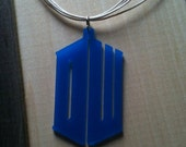 Doctor Who Tardis Logo Pendant, Doctor Who Pendant, Blue Pendant