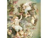 Flower Fairy Art Print   ' Summers End '